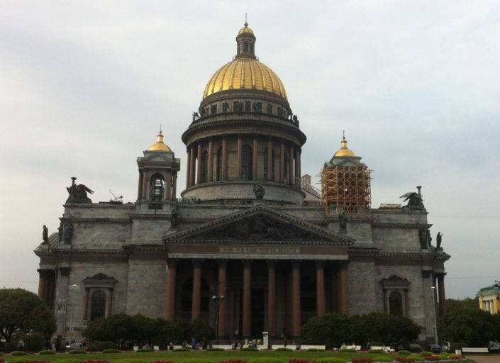 Saint Isaac's Cathedral, order by Tsar Alexander I , who chose August Montferrand to lead the construction this colossal cathedral. Rises to height of almost 102 m, its dome is plated with gold and it is visible from any point in in the historical city center.