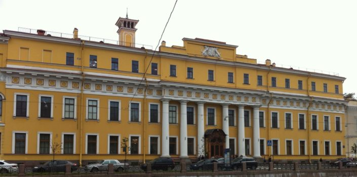 Yusupovsky Palace, sumptuous home of the most rich and powerful family in St. Petersburg until the Revolution. In 1916, in the early morning, prince Felix Yusupov, one of the heirs of the family, along with other people murdered Grigori Rasputin's and then threw his body into the river.