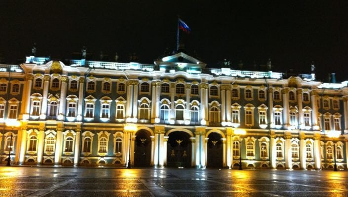 Winter palace, official residence of the Russian monarchs