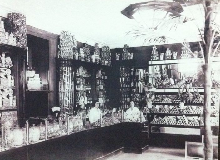 Grocery stores serving different social classes during Soviet era.