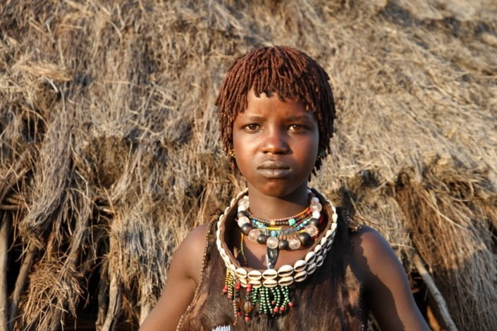 Girl from the Hamar tribe, Turmi, Omo Valley.