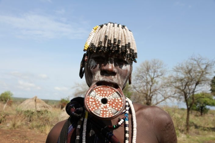 Mursi tribe woman