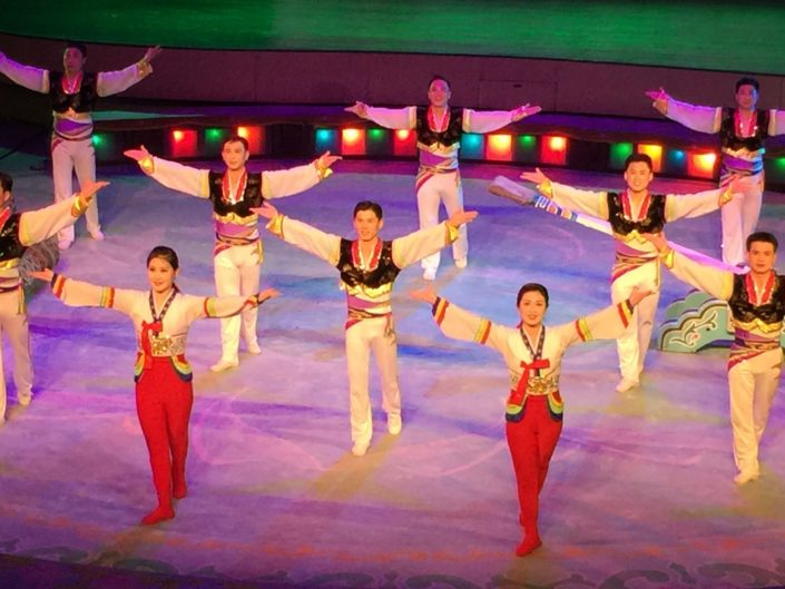 The performers at the State Circus, Pyongyang