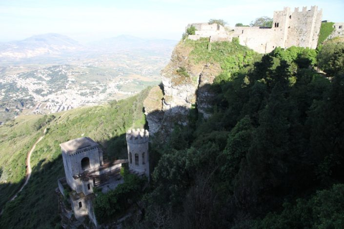 The Norman castle of Erice. The Normans arrived in Sicily in 1072,