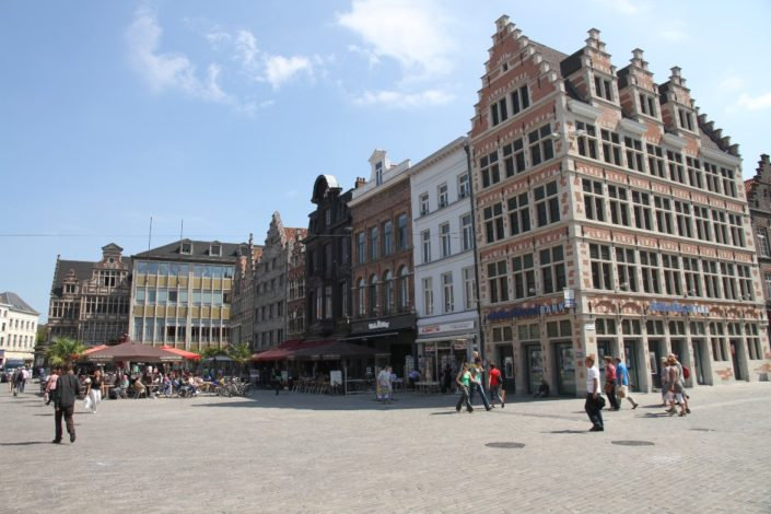 Ghent...The historical center of Ghent is remains a car free zone. City's medieval architecture is well preserved and restored .