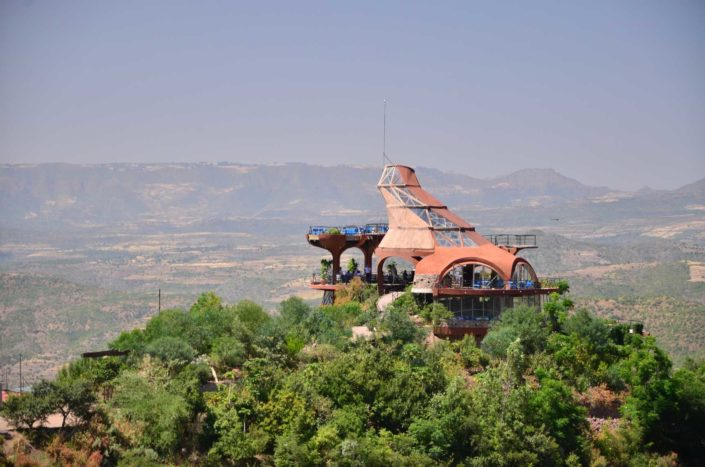 This futuristic open-air restaurant in Lalibela