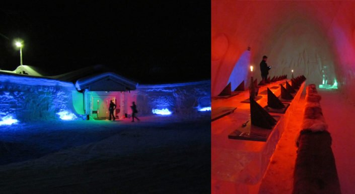 Kemi SnowHotel has 18 rooms & also a honey moon suite all made of snow. The fresh breathing air will guarantee you sweet dreams inside a well-equipped sleeping bed on a good bed.
